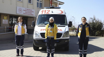 Onlar 112 ambulans servisinin kadın kahramanları