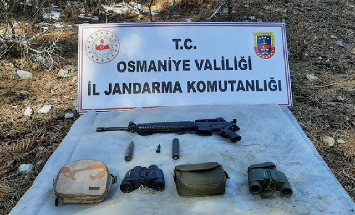 Amanoslarda PKK ya ait sığınak ele geçirildi #1