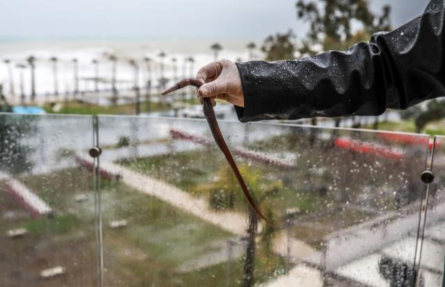 Antalya'da inanılmaz görüntü: Denizdeki balık fırtınanın etkisiyle 60 metre uzaklıktaki evin balkonuna uçtu