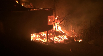 Artvinde bu kez Ortaköy köyünde yangın çıktı