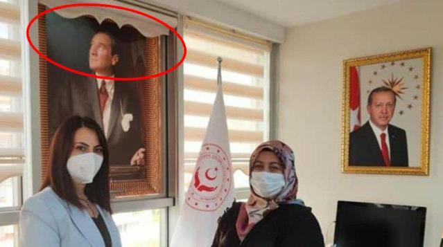 Atatürk portresinin üzerindeki perde olay oldu! Tepkilerin odağındaki isimden eleştirilere yanıt: Art niyetli çevrelerin düşündüğü gibi biri değilim