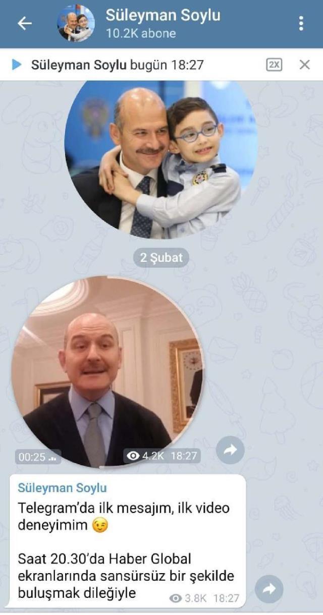 Bakan Soylu'dan paylaşımına kısıtlama getiren Twitter'a tepki: Twitter sansür uyguluyor, Telegram'a gelir misiniz?
