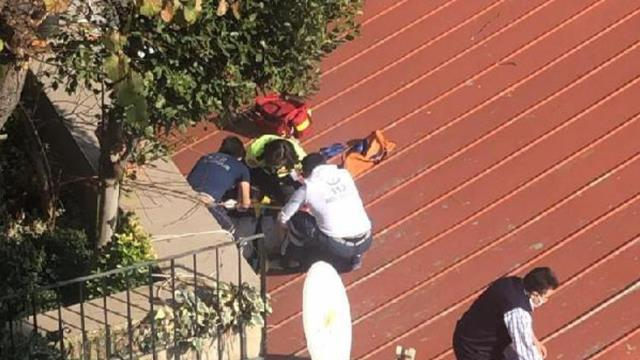 Beyoğlu'nda 5 katlı binadan düşen genç kadın mucizevi şekilde kurtuldu