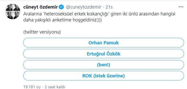 Cüneyt Özdemir 'Hangisi daha yakışıklı?' anketi yaptı, sosyal medya yıkıldı