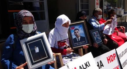 Muşta HDP önünde eylem yapan ailelerin sayısı 5e yükseldi