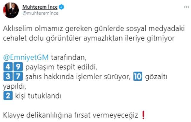 İzmir depremiyle ilgili provokatif paylaşım yapan 2 kişi tutuklandı