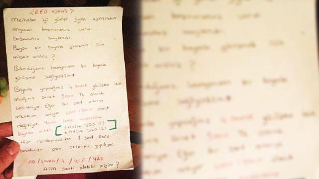 Jigolo çetesine operasyonda adaylarla yapılan görüşmelerde kullanılan not ortaya çıktı