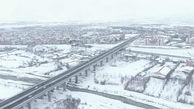 Kış güzelliği havadan görüntülendi