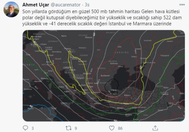 Meteoroloji'den İstanbul'da başlayan kar yağışıyla ilgili heyecanlandıran paylaşım: 10-20 santim kar geliyor