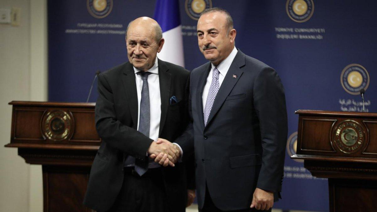 Mevlüt Çavuşoğlu, Fransız mevkidaşıyla görüştü #2