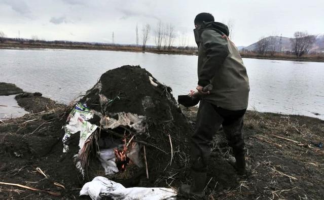 Ördek avlamak için kurulan yasadışı evsinler imha edildi