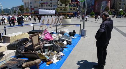 Rizede dere yataklarından çıkan çöpler herkesi şaşırttı