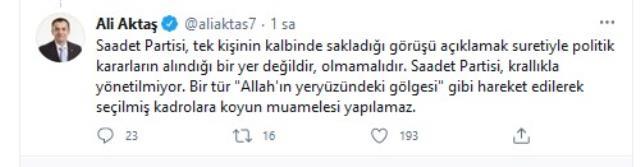 Saadet Partisi'nde ittifak çatlağı! Erdoğan'la görüşen Asiltürk'ün açıklaması kriz çıkardı