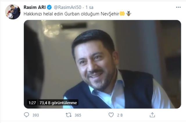 Son Dakika: AK Partili Nevşehir Belediye Başkanı Rasim Arı canlı yayında istifa etti