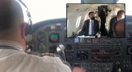 Bakan Pakdemirlinin uçağı arızalandı