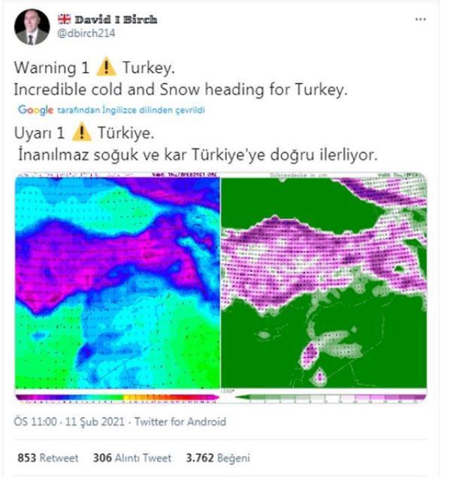 Türkiye'ye bir kar uyarısı da yurt dışından: İnanılmaz soğuk ve kar Türkiye'ye doğru ilerliyor