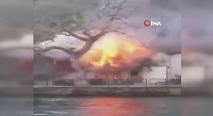Çengelköyde Vaniköy Camisinde yangın çıktı